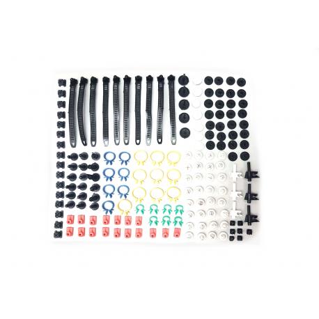 Lot complet clips & collier plastique