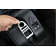Garniture de cadre de bouton de lève-vitre en argent mat ABS