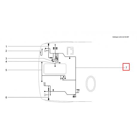 Faisceau cable avant Lada Niva 4x4 1700