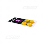 Silent bloc polyuréthane amortisseur jaune (x8)