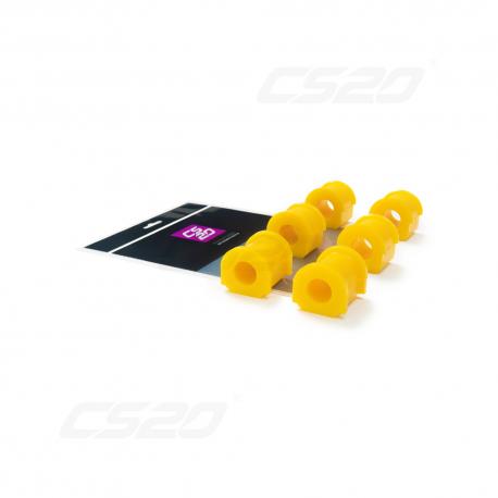 Silent bloc polyuréthane barre stabilisatrice jaune (x4)