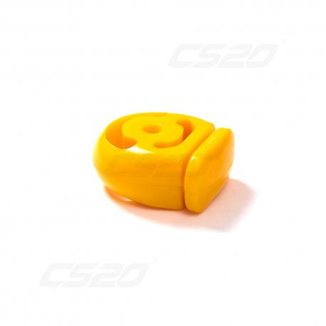 Silent bloc echappement 1700 polyurethane jaune