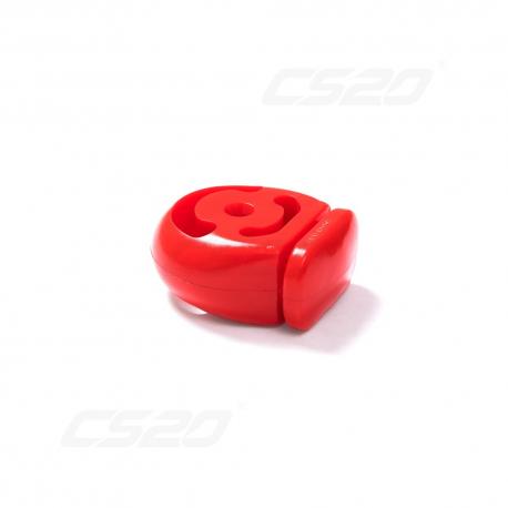 Silent bloc echappement 1700 polyurethane rouge