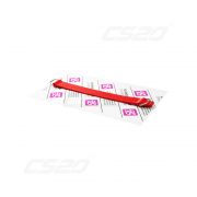 Sangle 28cm vase d'expansion silicone rouge