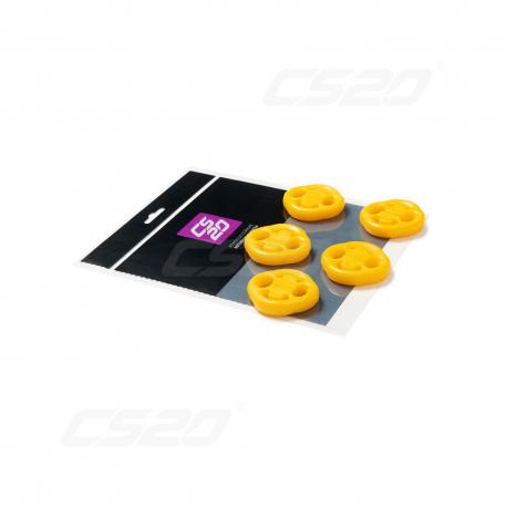 Silent bloc echappement polyurethane jaune x5
